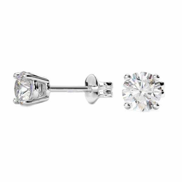 Più affidabile pacchetto elegante e robusto autentica di fabbrica Orecchini Punto Luce In Oro Bianco E Diamanti